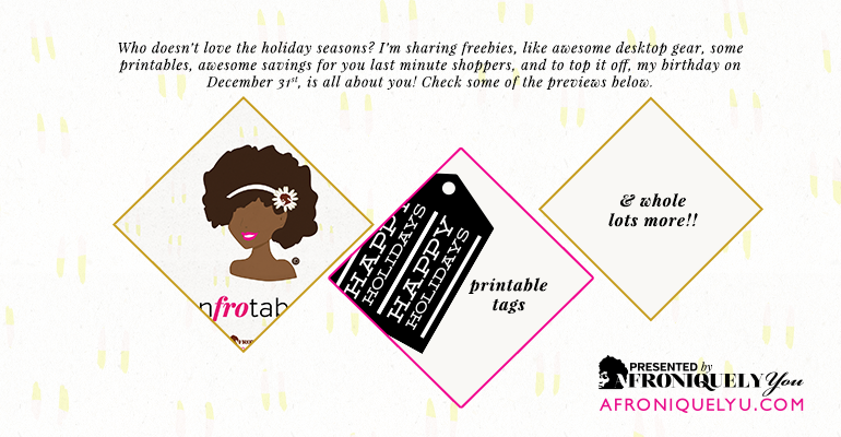7 Days of Holiday cheer by Afroniquely YouInner