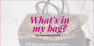 U by Kotex pads - shad's summer bag
