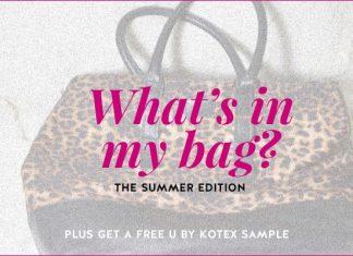 U by Kotex pads - shad's summer bag